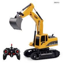 EBOYU 258-1 2,4 ГГц 6CH 1:24 RC для экскаватора daewoo, Мини RC грузовик Перезаряжаемые имитация экскаватор игрушка в подарок для детей