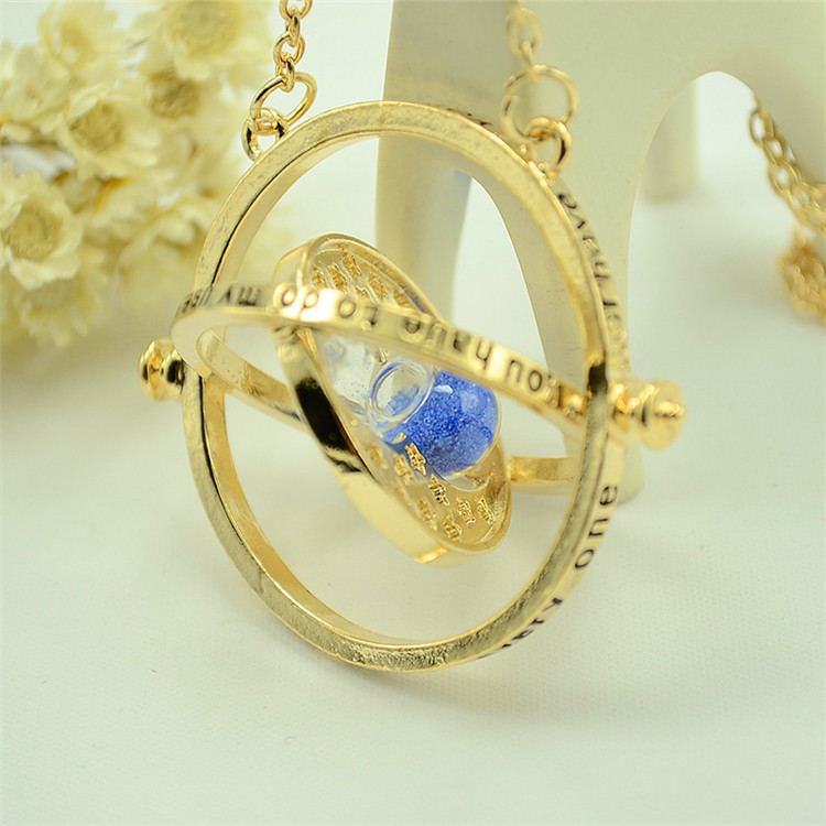 150 Pcs/lot Harri Potter time turner Necklace hourglass Pendants toy gifts-in Action & Toy Figures from Toys & Hobbies    2