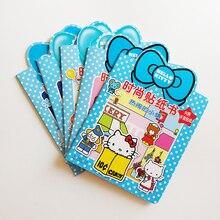 סט מלא של 5 ספרים ספרי מדבקת הלו קיטי אופנה עבור ילדים קטנים/ילדים מתנות Kawaii ספרי כיף פעילות 32 k עבור ילדים