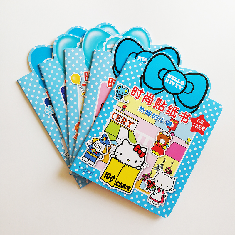 Hello Kitty Fashion Sticker Books Full Set of 5 Books for Little Kids/Children Activity Fun Books 32k Kawaii Gifts for Kids sticker dolly fashion designer activity book