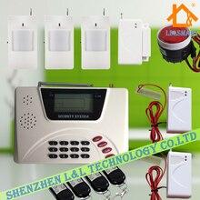 433 МГц Английский Голос Беспроводной Сотовой PSNT GSM Главная Охранной Сигнализации Автодозвон Системы