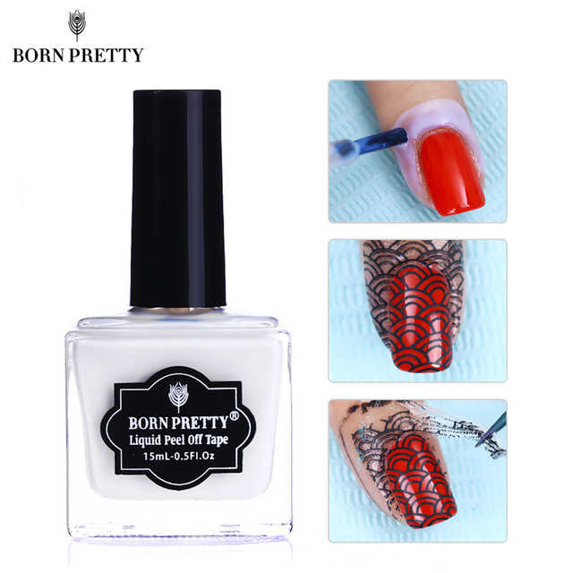 BORN PRETTY 15ml Nail Liquid Latex Fruity Odor free Peel Off Tape ...