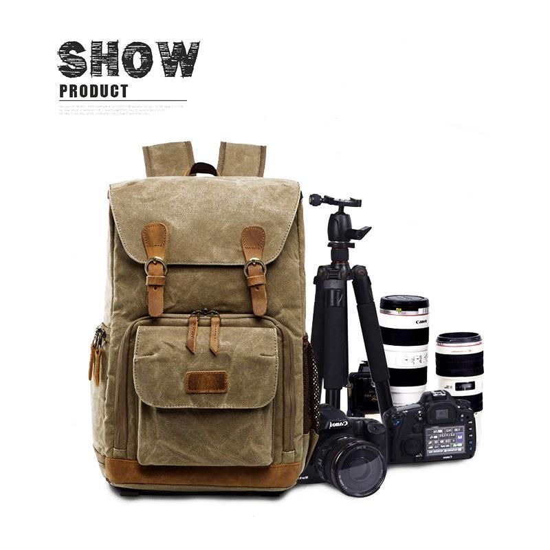 Batik toile caméra sac à dos en plein air sac étanche sac de photographie multifonctionnel pour Canon pour la plupart des sacs reflex numériques - 5