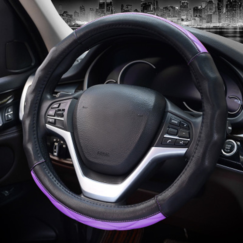 Sport Car Steering Wheel Cover Microfiber Leather Auto Steeing Wheel Covers of Cases For Toyota Corolla KIA Honda BMW in Steering Covers from Automobiles Motorcycles