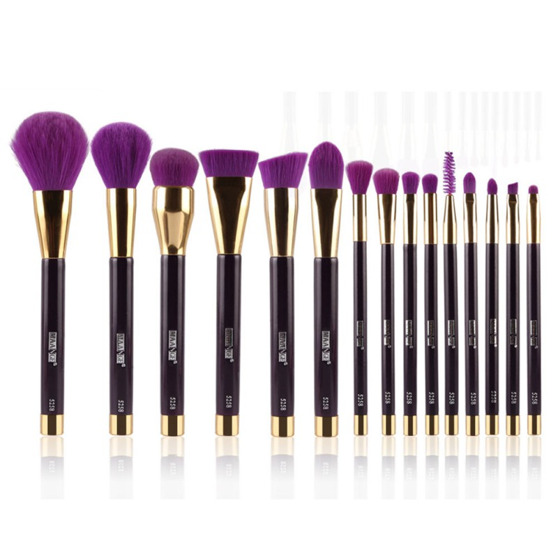 High Quality 15pcs Makeup Brushes Synthetic Hair Soft Eye Shadow Foundation Eyebrow Lip Brush Makeup Brushes