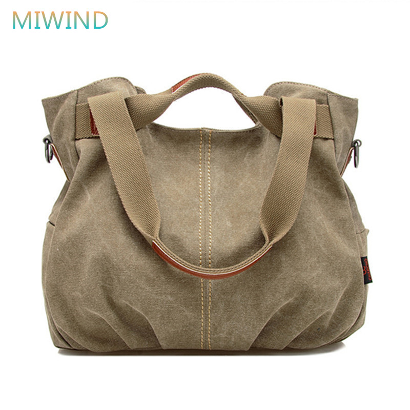 MIWIND 2018 Hot Designer Handbags High Quality Women Famous Brand Shoulder Bag Ladies Canvas Tote Bag Women Messenger Bags CB123 2016 new arrival fashion women handbags high quality shoulder bag ladies camouflage canvas tote bag women messenger bags bolsos