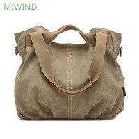 Miwind 2017 популярные дизайнерские Сумки высокое качество Для женщин известный бренд сумка женская парусиновая сумка Для женщин Курьерские су...