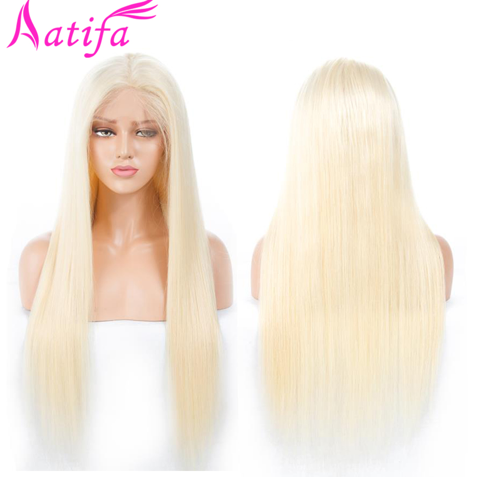#613 Blonde Wigs 150% Density Brazilian Straight Hair Remy Hair Lace Front Wig 13x4'' 613 Lace Front Human Hair Wig For Women