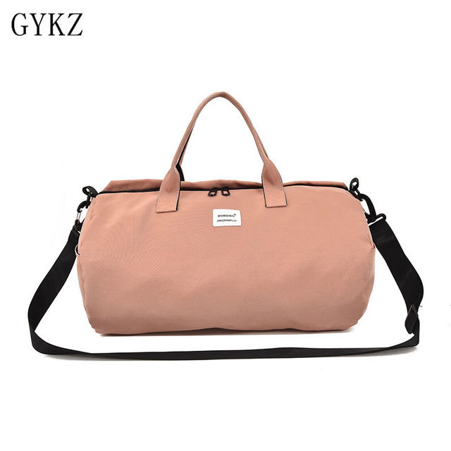 19fc31994124 GYKZ Korean-style Outdoor Travel Gym Bag Women Canvas Shoulder Bag For  Fitness Waterproof Sport