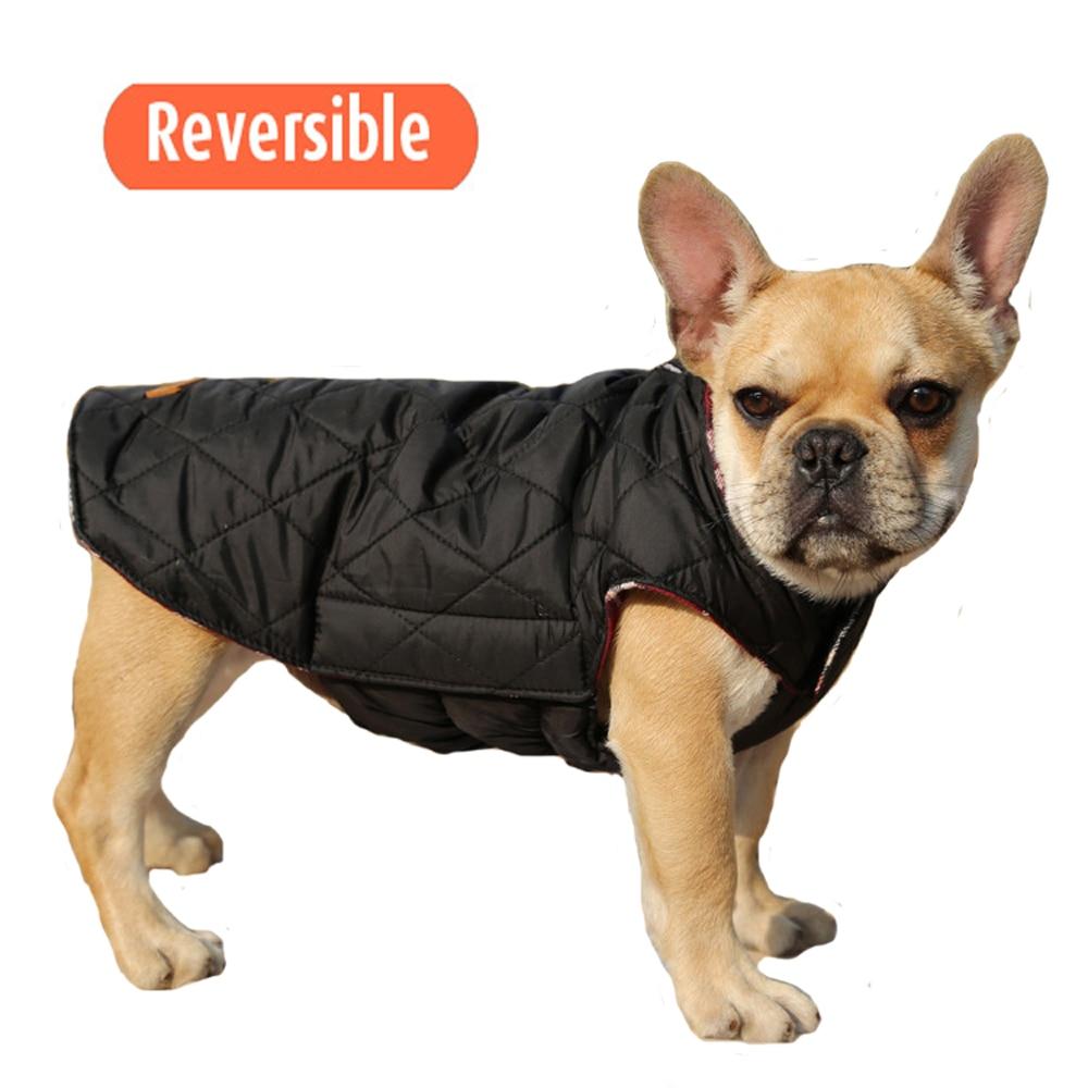 Waterproof Dog Coat Danish Design 2 n 1 Use over Harness Black French Bulldog