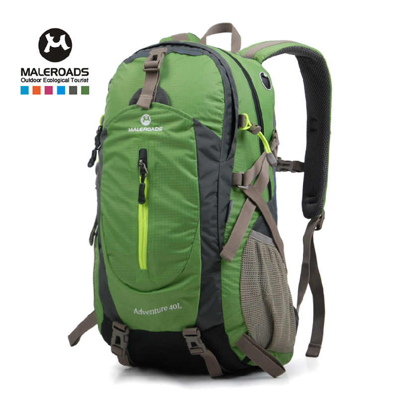 19f20c7a0a Maleroads 40L Waterproof Travel Backpack Camp Hike Mochilas Masculina  Laptop Daypack Trekking Climb Back Bags For