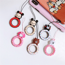 Universal mobile phone rope lanyard Anti-drop rope Cute lanyard Finger Cellphone Ring Straps DIY Accessories for iphone airpods