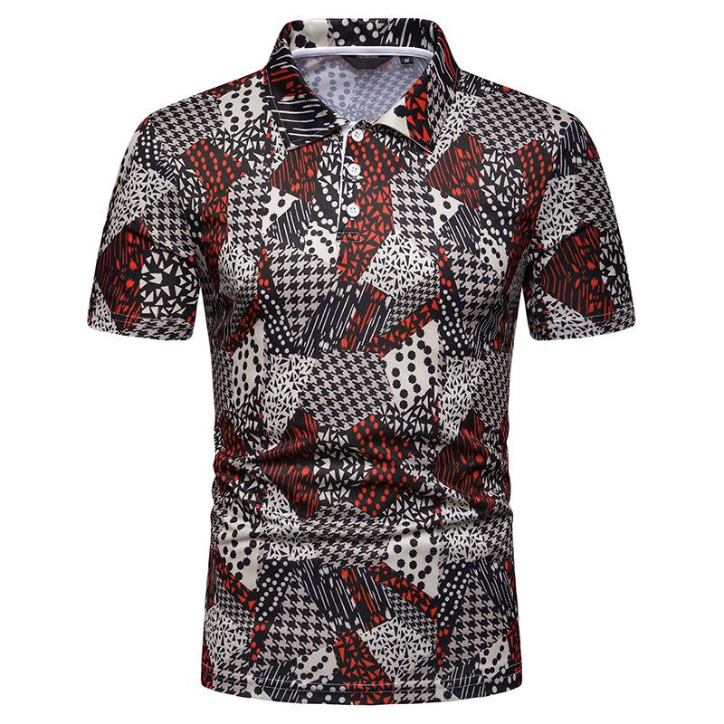Polo   Shirt Men Fashion print Men's Clothing Summer Tops Hawaiian beach style Tees Short sleeves Men   Polo   Shirt