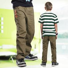 ฤดูใบไม้ผลิฤดูร้อนฤดูใบไม้ร่วงและฤดูหนาวกางเกงเด็กผ้าฝ้าย 100% กางเกงเด็กกางเกงเด็กกางเกงขายร้อนสำหรับ 6  14 ปี