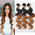 Ombre Hair Brazilian Body Wave 4 Bundles Cheap Ombre Human Hair Weave Two Tone Brazilian Weave Hair 1B/27 Ombre Brazilian Hair