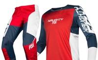 2019 NAUGHTY FOX MX 180 Prizm Navy Red Jersey Pants Motocross Gear Set Racing Dirt Set Motocross Protective Pad