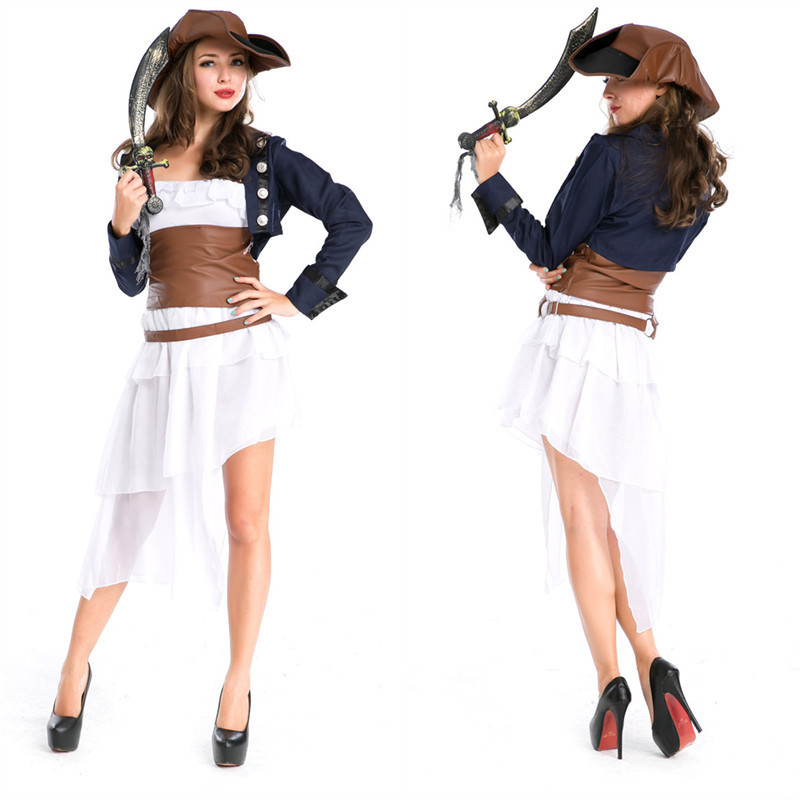 Disfraces femme Sexy Pirate marin Cosplay Halloween guerrier jeu de rôle Costume Festival parade mascarade carnaval fête robe