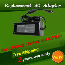 120W 19.5V 6.15A 6.3*3.0MM Replacement For Lenovo IdeaPad Y470 Y460P Y570 A300 A700 C305 C300 C320 AC Charger Power Adapter