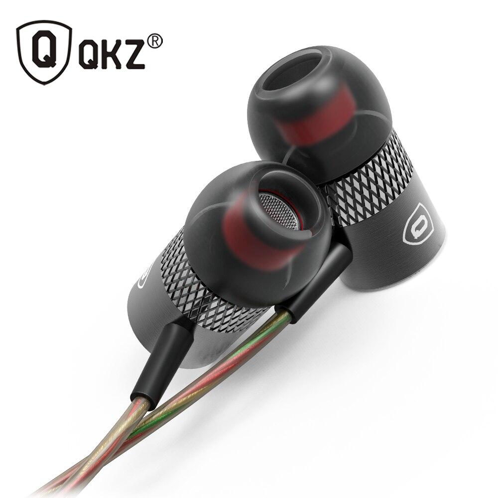 QKZ X3 Eearphone Ultima Original Brand fone de ouvido Super Bass in-ear Auricolari con Microfono 3.5mm Hifi Placcato Oro Go Pro Musica