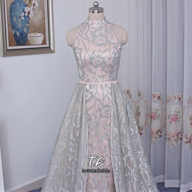 Online-Shop Stehkragen Sleeveless Silber Pailletten Nude Saudi ...