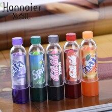 Buena Marca de Belleza maquillaje Cambio encantador Color Lip Balm hidratantes duradera maquillaje resistente al agua Lápiz Labial botella de Coca Cola de color