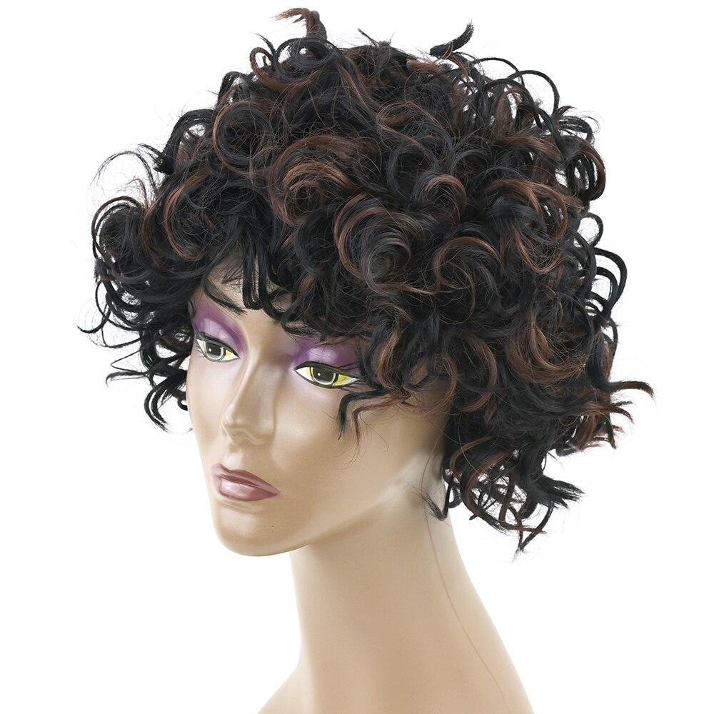 Soowee вьющиеся Синтетические волосы чёрный; коричневый Косплэй короткие Искусственные парики парик волос партии для черный Для женщин и Для ...