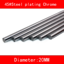 2pcs/lot 45#Steel electroplate chrome linear shaft diameter 20mm 30mm length 100mm-500mm 3d printer part cnc linear rail shaft 1pc linear shaft optical axis bearing steel outer diameter 8mm x length 300mm for cnc parts