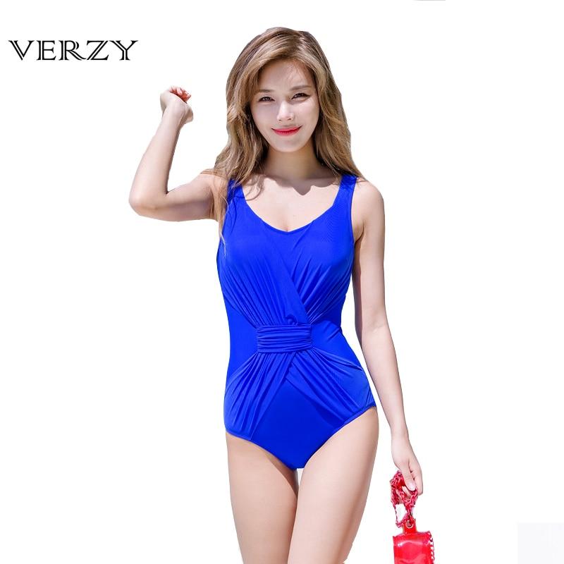 Plus Size Solid Swimwear Women One Piece Swimsuit 2017 Summer Beachwear Padding Bra Bathing Suits Swim Wear Monokini 3 Colors plus size scalloped backless one piece swimsuit