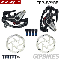TRP Spyre Alloy Mechanical Disc Brake Caliper SPYRE calipers Front / Rear / Pair w/ or w/o 160mm Rotor with Adapter Screws ROAD