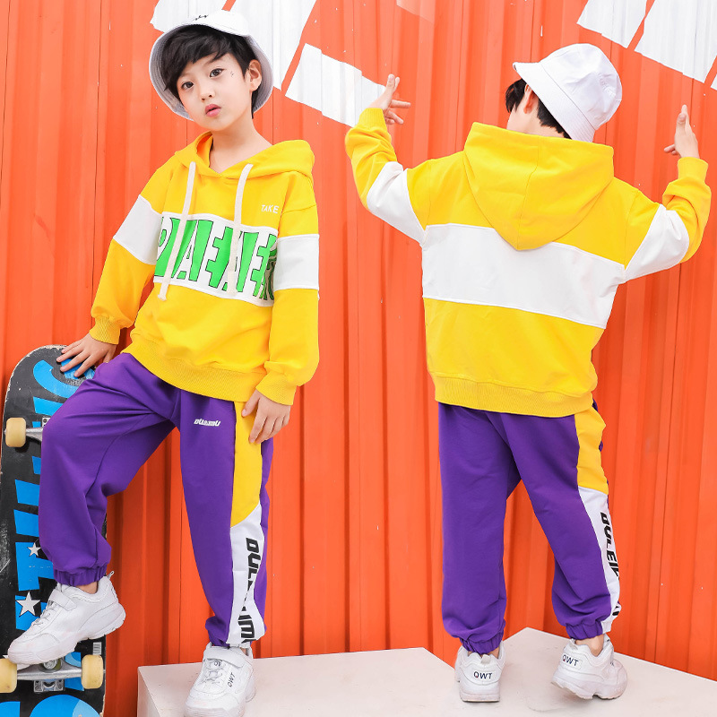Kid Hip Hop Hoodies Clothing Casual Shirt Sweatshirt Tops Jogger Pants For Girls Boy Dance Costume Ballroom Dancing Clothes Wear