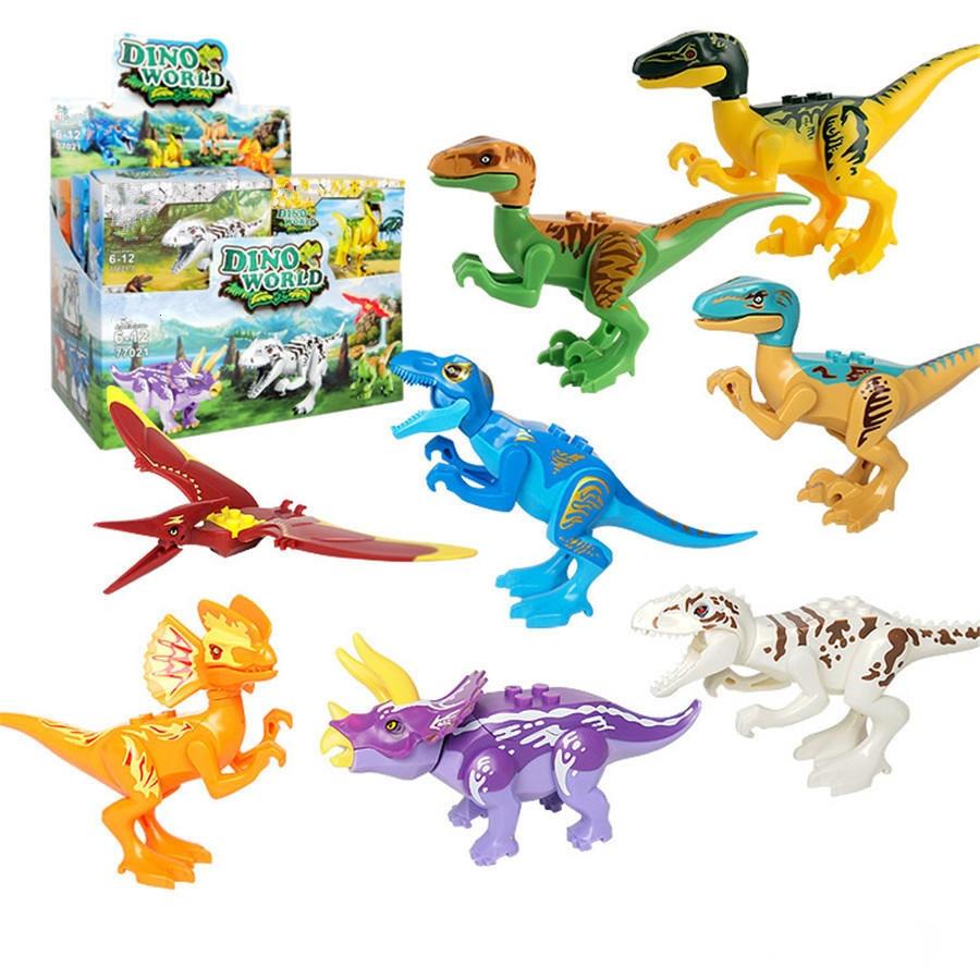 Dinosaur Jurassic Aksi Toy Bricks Perakitan Model Blok Bangunan Mainan Figure Dinosaurus Dino World Untuk Anak Kecil Laki Bl181 Di Dari Hobi