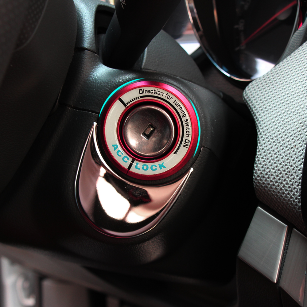 Car Ignition Switch Cover Noctilucence Glow 3d Stickers