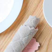 Антипригарное масло кораллового бархата подвесные полотенца для рук Кухня Dishclout
