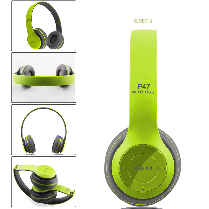 P47 Bluetooth Headphone V4.1 Wireless Headset Earphone HandsFree Music Headset With MF/TF for iphone 7 Samsung note7 Xiaomi pro
