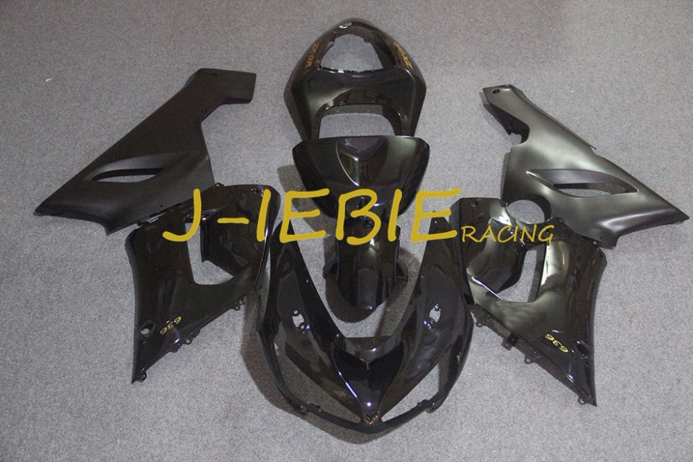 Black Injection Fairing Body Work Frame Kit for Kawasaki NINJA ZX6R ZX6 ZX 6 R 2005 2006Black Injection Fairing Body Work Frame Kit for Kawasaki NINJA ZX6R ZX6 ZX 6 R 2005 2006