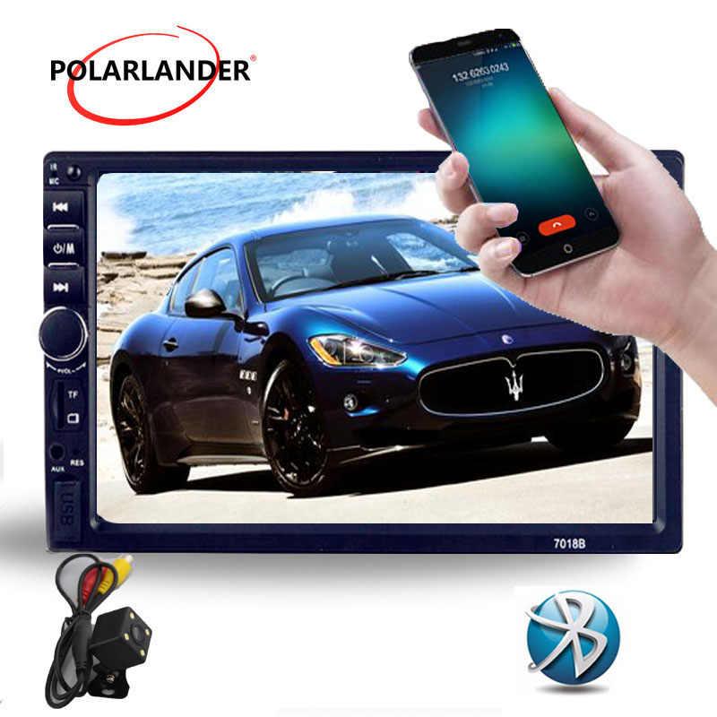 7 pollici 2Din Bluetooth supporto posteriore della macchina fotografica HD video Player Auto radio MP4 MP5 FM/USB/TF/auxina touch screen 5 lingue