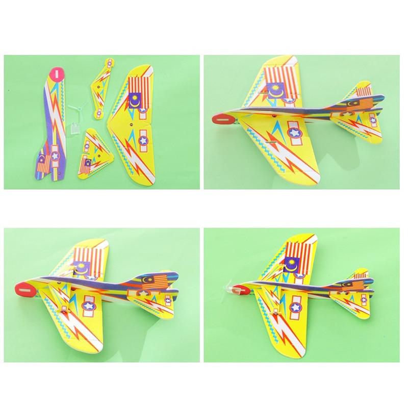 GRATIS PENGIRIMAN DIY pesawat ajaib Terbang Kembali Toy Pesawat