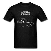 Rainy Day Chance of Sideways Chevy Car T Shirts Black Print Cars Mens Fashion Sweatshirt Funny Design Pure Cotton Tshirts