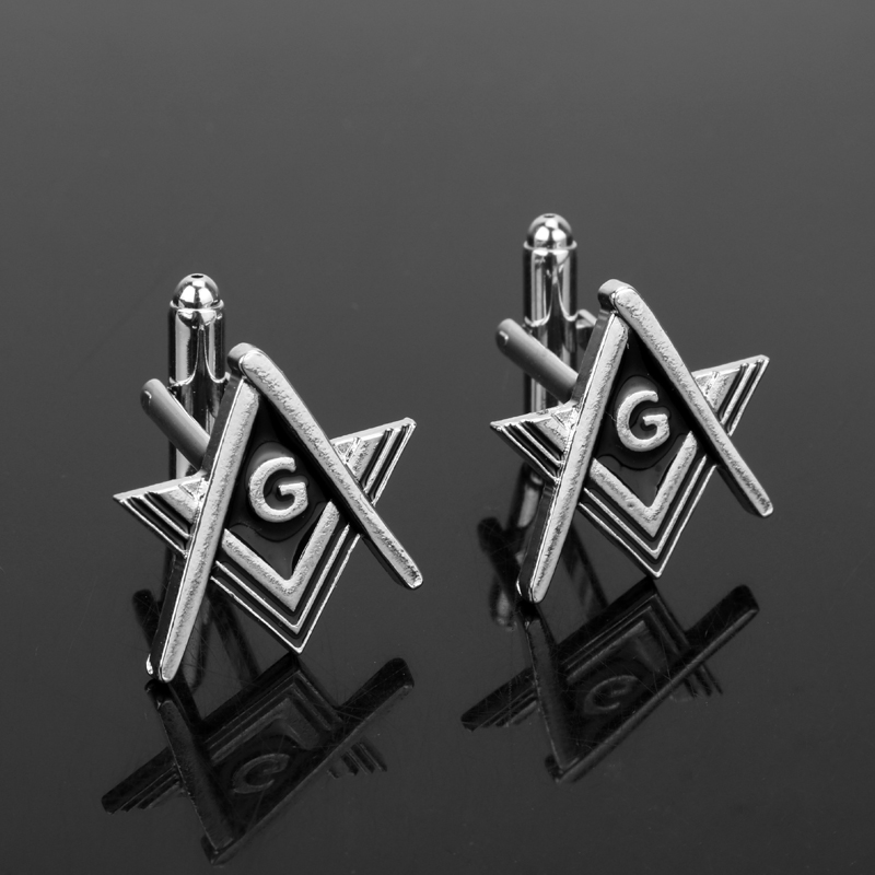 dongsheng Enamel French Shirts Cufflinks Masonic Fashion Brands Freemason Free mason Gift for Men Boys-40