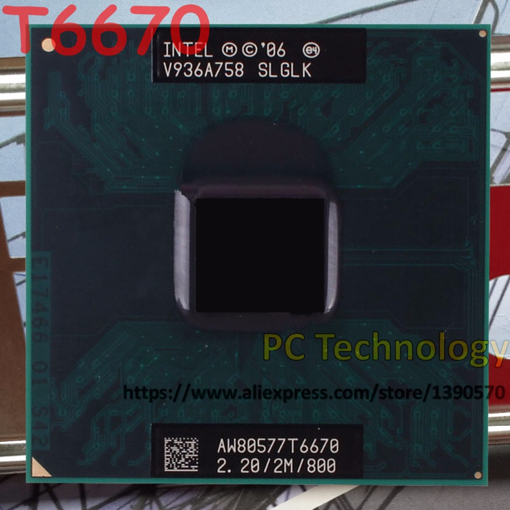 Intel Laptop Processor Core2 Duo T6670 Cache 2M CPU FSB 800mhz Original title=