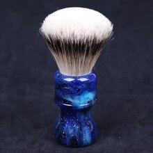 Мм 24 мм Yaqi таинственный пространство цвет ручка Silvertip барсук волос веер форма узел для мужчин бритья расчёски для волос