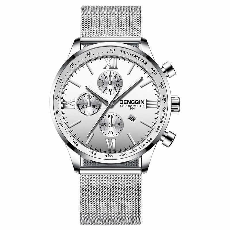 2019 אופנה שעונים גברים נירוסטה מקרית relogio masculino saat קוורץ אנלוגי עסקי תאריך שעוני יד Dropshipping שעון