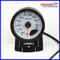 """2.5 """"60 MM DF Avance CR Gauge Meter Medidores de Cara Blanca con Sensor de Temperatura del Aceite"""