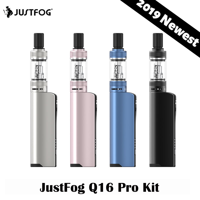 2019 Newest Original JustFog Q16 Pro 900mAh Electronic Cigarettes Kit 1.2ohm/1.6ohm Coils 900mah Battery 1.9ml Atomizer(China)