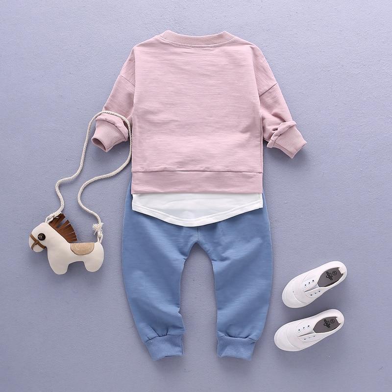 2pcs Sets 2017 Spring Baby's Sets Boys Camisetas de manga larga + - Ropa de ninos - foto 4