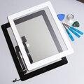 White & black top toque digitador da tela de substituição para ipad 4 & casa Botão Home & Flex Cable & Glue & Ferramenta Frete Grátis