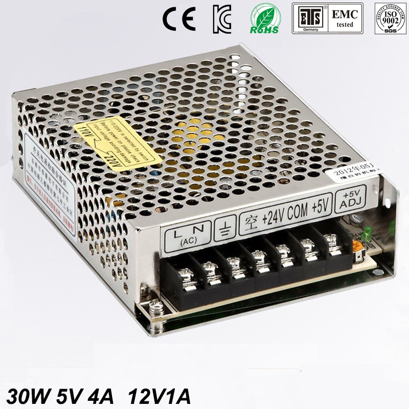 30W Dual output 5V 12V Switching power supply AC to DC DC4A DC1A 2 orders футболка классическая printio гонг конг 2