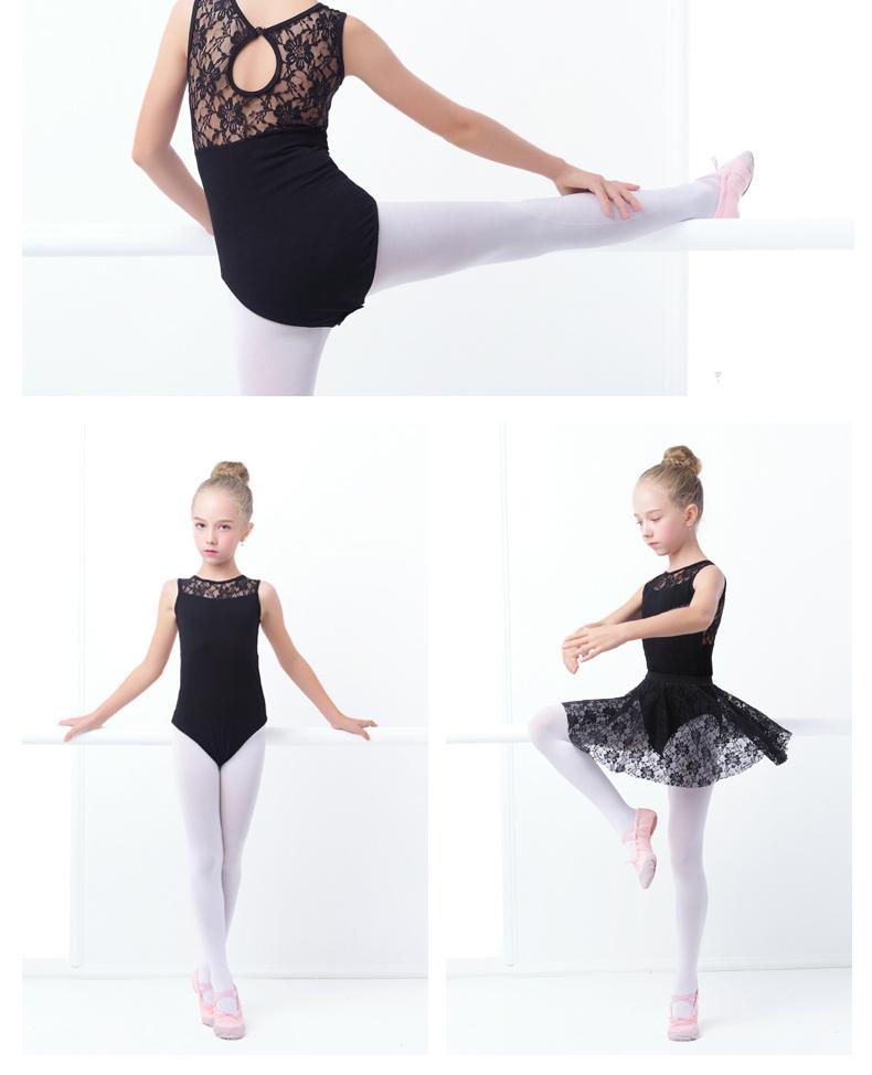 без рукавов балетные костюмы трико черный хлопок кружево балетная одежда для танцев обувь девочек гимнастика трико
