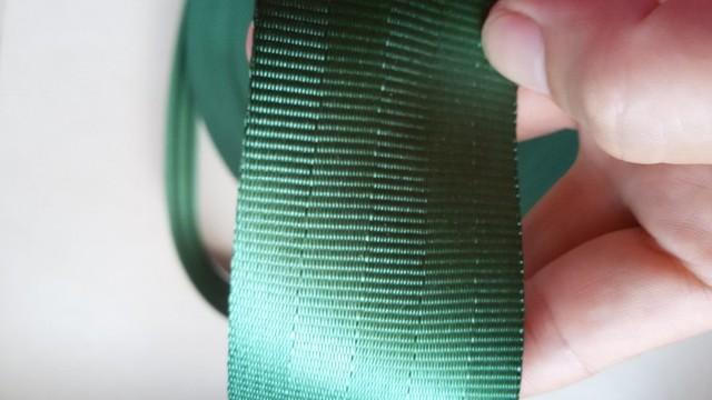 100 metros Rollo de tejido Del Cinturón de Seguridad Correa de Color verde 4.8 cm de Ancho 5 Bares
