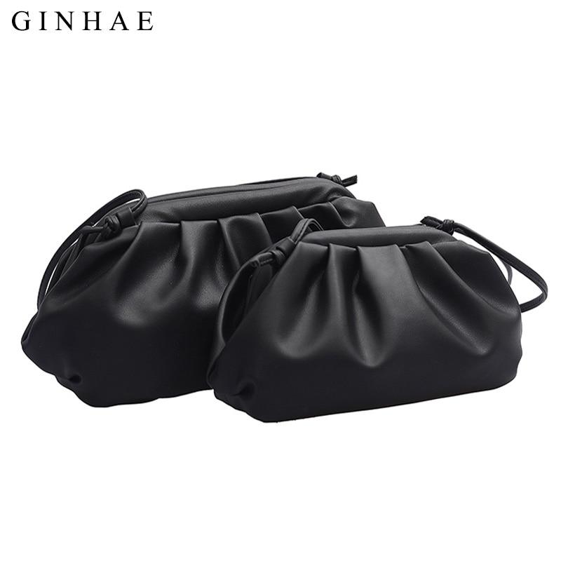 2019 Ladies Fashion Dumpling Bag Famous Brand Soft Leather Women Handbags Shoulder Bag Small Clutch Crossbody Bags For Women Sac
